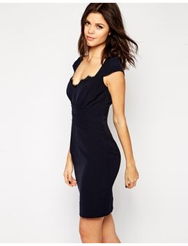 lipsy-tulip-pencil-dress-with-lace-neck-trim by lipsy