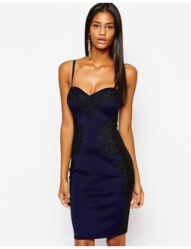 lipsy-cami-body-conscious-dress-with-contrast-lace-sides by lipsy