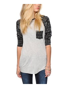 empyre-indira-printed-sleeve-baseball-tee by empyre