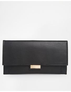 asos-slim-clutch-bag-with-metal-tab by asos-collection
