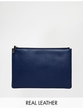 whistles-exclusive-to-asos-leather-clutch-bag-in-navy by whistles