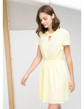 knotted-neckline-dress by mango