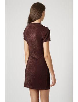 online-exclusive-glitter-high-neck-bodycon-dress by topshop