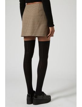 petite-checked-zip-a-line-skirt by topshop