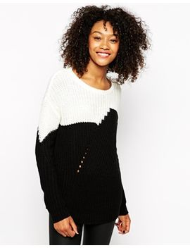 vero-moda-color-block-sweater by vero-moda