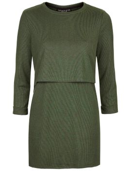 petite-linear-stripe-overlay-dress by topshop