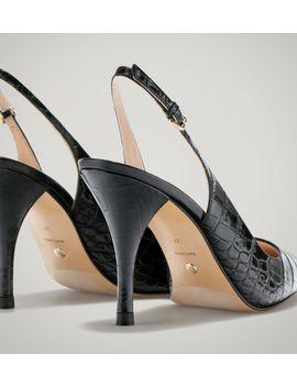 crocodile-slingback-court-shoe by massimo-dutti
