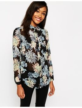 warehouse-spikey-floral-blouse by warehouse