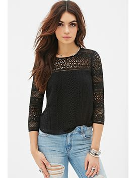 boxy-crochet-top by forever-21