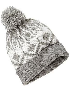 womens-fair-isle-knit-hats by old-navy