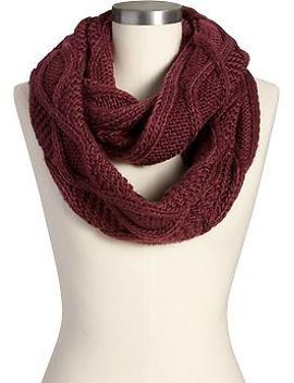womens-cable-knit-infinity-scarves by old-navy