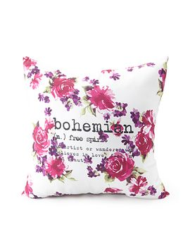 floral-bohemian-graphic-pillow by forever-21