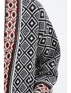 mixed-tribal-pattern-cardigan by forever-21