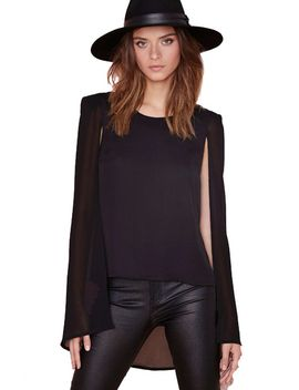 black-cape-style-high-low-blouse by sheinside