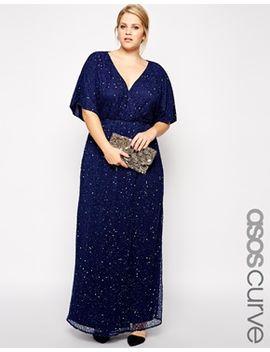 asos-curve-sequin-kimono-maxi-dress by asos-curve