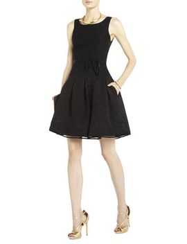 delphine-pleated-open-back-dress by bcbgmaxazria