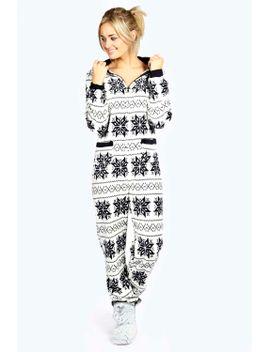 heidi-nordic-side-pocket-contrast-trim-onesie by boohoo