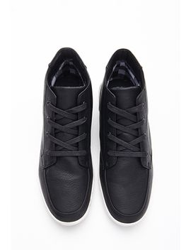 faux-leather-high-top-sneakers by forever-21