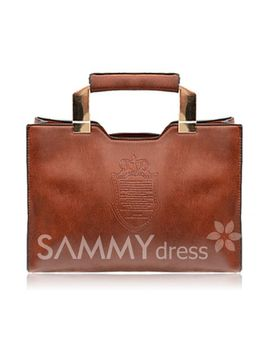 career-womens-tote-bag-with-solid-color-and-crown-print-design by sammy-dress