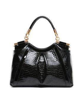 stylish-womens-shoulder-bag-with-pu-leather-and-crocodile-print-design by sammy-dress