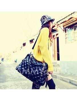 casual-womens-shoulder-bag-with-solid-color-belt-rivet-zipper-design by sammy-dress