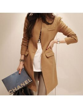 hot-selling-2013-autumn-and-winter-formal-suit-collar-slim-medium-long-woolen-camel-female-trench by ali-express