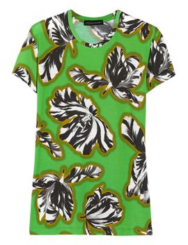 the-outnetfloral-print-micro-modal-blend-t-shirt by jonathan-saunders