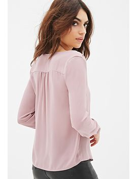 collarless-v-neck-blouse by forever-21