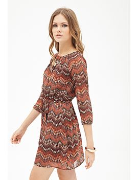 southwestern-print-pleated-dress by forever-21
