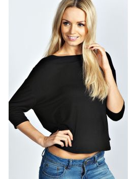 rebecca-oversized-3_4-sleeve-tee by boohoo