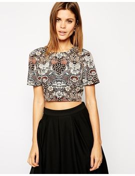 asos-t-shirt-in-vintage-floral by asos-collection