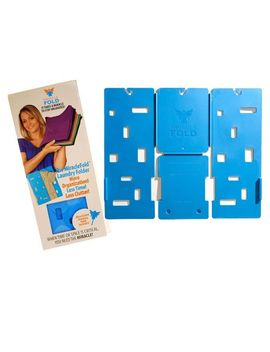 miraclefold-laundry-folder-clothes-t-shirts-pants-towels-organizer-fast-easy-and-fun-time-saver-(blue) by miracle-fold