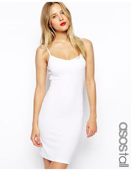 asos-tall-mini-cami-bodycon-dress-in-rib by asos-tall