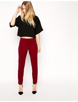 asos-cigarette-trousers-in-scuba by asos-collection