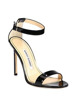 chaos-patent-leather-ankle-strap-sandals by manolo-blahnik