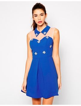 chi-chi-london-chelsea-sweetheart-skater-dress-withembellishment by chi-chi-london