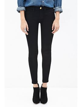 zippered-skinny-jeans by forever-21