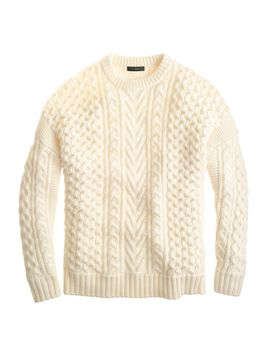 mixed-cable-sweater by jcrew
