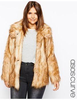 asos-curve-vintage-look-faux-fur-coat by asos-curve