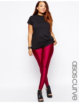 asos-curve-legging-with-high-waist-in-shimmer-disco by asos-curve