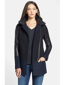 leita-mixed-media-asymmetrical-zip-coat by mackage