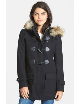 faux-fur-trim-toggle-duffle-coat by sam-edelman