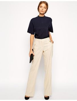 asos-linen-pants-in-wide-leg by asos-collection