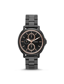 chelsey-multifunction-black-stainless-steel-watch by fossil