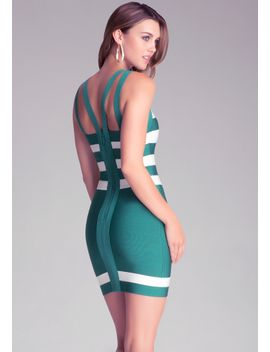 round-neck-stripe-dress by bebe