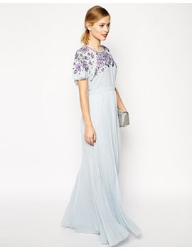 asos-embellished-sleeve-pleated-maxi by asos-collection