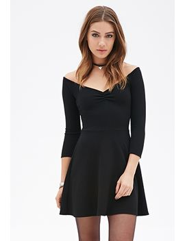 textured-skater-dress by forever-21