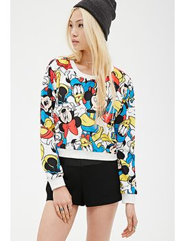 cropped-disney-sweatshirt by forever-21
