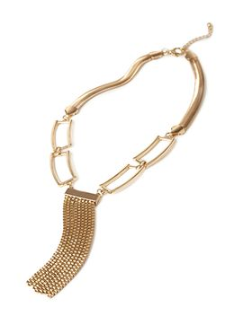chain-link-&-fringe-necklace by forever-21