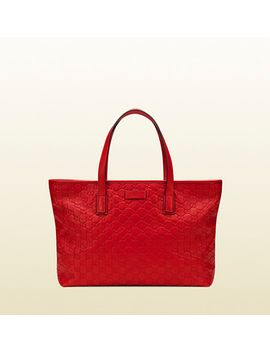 red-guccissima-leather-tote by gucci